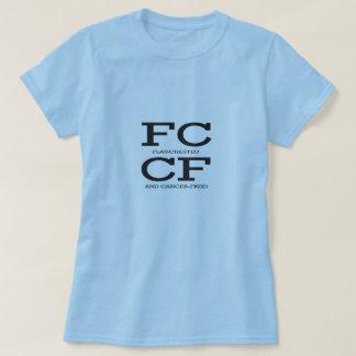 Camiseta O cancro da mama chested liso de FCCF livra a