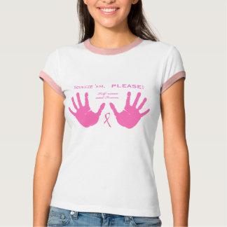 Camiseta O cancro da mama espreme-os design COR-DE-ROSA