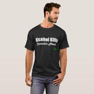 Camiseta O cannabis dos matares do álcool cura o t-shirt