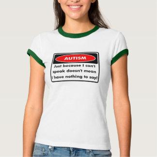 Camiseta o cant do autismo fala a campainha T