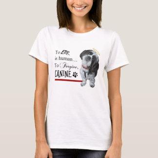 """Camiseta O cão bonito """"Err é Human~To perdoa o canino """""""