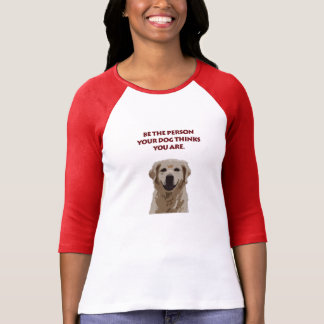 Camiseta O cão cita o golden retriever do Tshirt