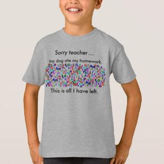 Camiseta O cão comeu meu t-shirt dos trabalhos de casa