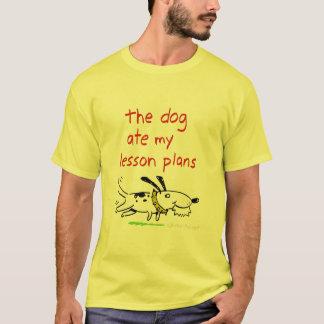 Camiseta o cão comeu meus planos de aula
