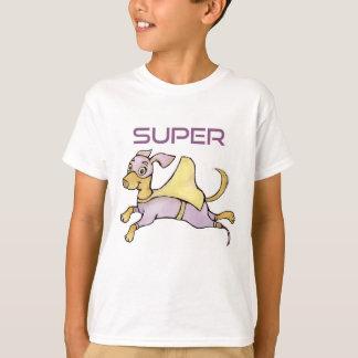 Camiseta O cão do super-herói do amputado com prótese CAÇOA