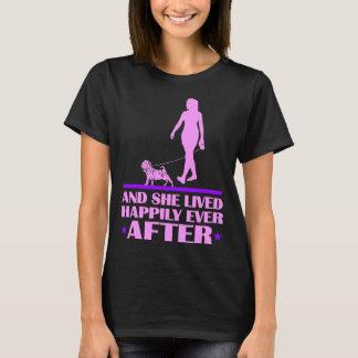 Camiseta O cão e de Shar Pei viveram feliz nunca após