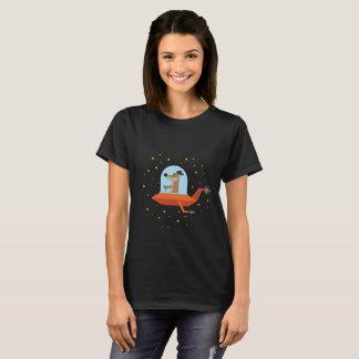 Camiseta O cão é um astronauta