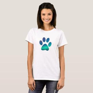 Camiseta O cão legal Pawprint, inverno do norte ilumina o