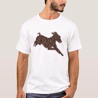 Camiseta O cão rápido de Brown salta sobre o Fox