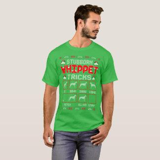 Camiseta O cão teimoso de Whippet engana a camisola feia do