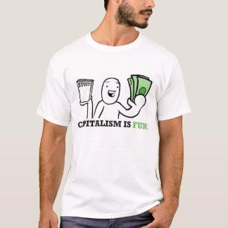 Camiseta O capitalismo é divertimento/suga!