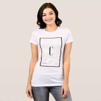 Camiseta O carbono é o melhor amigo de uma menina