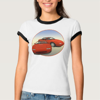 Camiseta O carro de esportes vermelho da arte da avenida