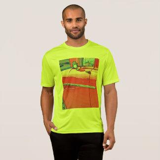 Camiseta O carro dos homens como um t-shirt do esboço