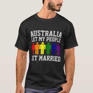 Camiseta O casamento gay de Austrália deixou minhas pessoas
