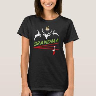 Camiseta O casco da rena da avó imprime o Natal