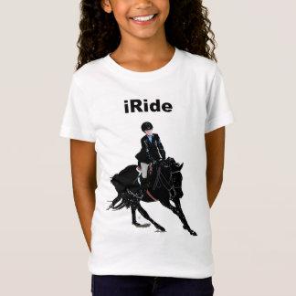 Camiseta O cavalo bonito das crianças do iRide
