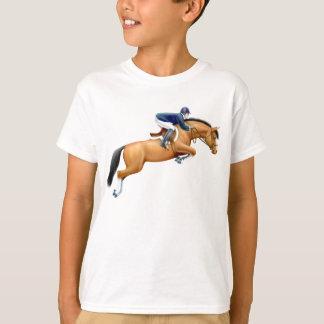 Camiseta O cavalo da ligação em ponte da mostra da baía