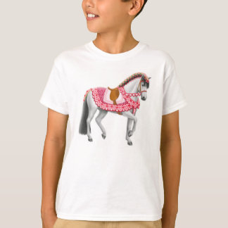 Camiseta O cavalo da parada do dia dos namorados caçoa o