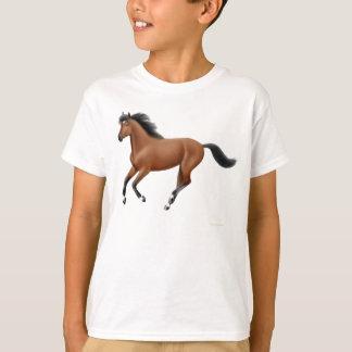Camiseta O cavalo de baía de galope caçoa o t-shirt