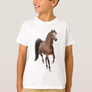 Camiseta O cavalo de baía trotar caçoa o t-shirt