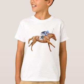Camiseta O cavalo de corrida do puro-sangue caçoa o t-shirt