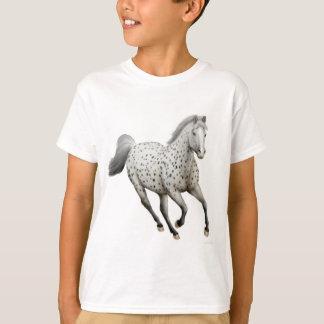 Camiseta O cavalo do Appaloosa do leopardo caçoa o t-shirt