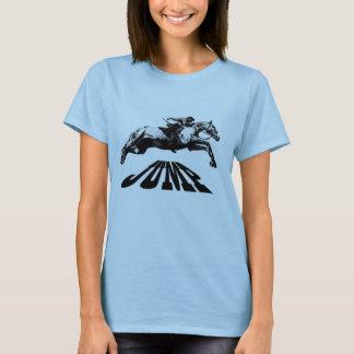 Camiseta O cavalo que salta o t-shirt equestre