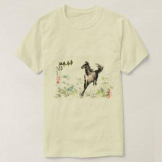 Camiseta O cavalo Running está a meus espírito e velocidade