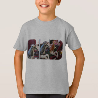 Camiseta O cavalo silencioso do carrossel dos pilotos caçoa