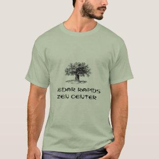 Camiseta O centro do zen do CR com carvalho e Buddha citam