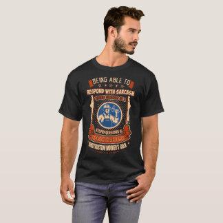 Camiseta O cérebro do trabalhador da construção responde