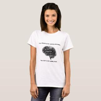 Camiseta O cérebro é para decisões