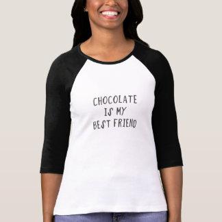 Camiseta O chocolate é meu melhor amigo