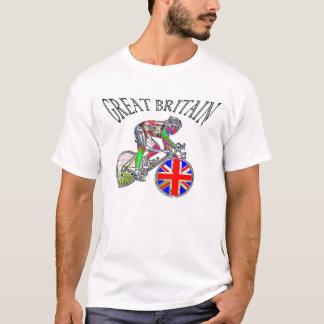 Camiseta O ciclismo BRITÂNICO da bandeira patrocina o