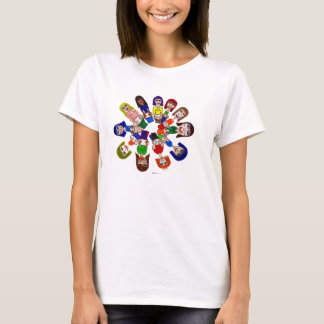 Camiseta O Cilindro Círculo da senhora,