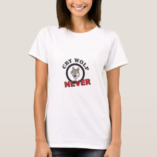Camiseta o círculo nunca grita lobo