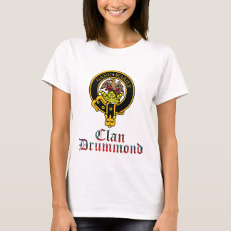 Camiseta O clã escocês do Tartan da crista de Drummond
