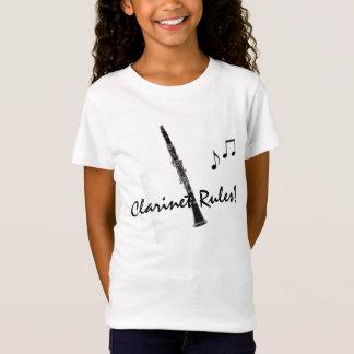 Camiseta O clarinete ordena o T das notas da música