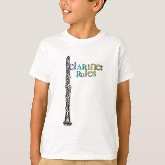 Camiseta O clarinete ordena o texto da cor escura