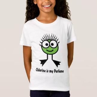 Camiseta O cloro é meu perfume - caráter verde da natação