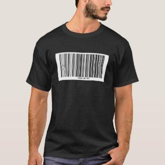 Camiseta O código de barras VERIFICA-ME PARA FORA