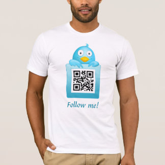 Camiseta O código de QR segue-me modelo do t-shirt
