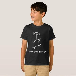 Camiseta O comportamento humano estranho caçoa o t-shirt do
