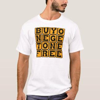 Camiseta O comprar um obtem um livre, grávido com os gêmeos