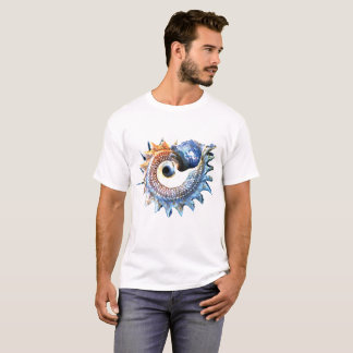 Camiseta O Conch Shell peroliza a espiral dourada Fibonacci