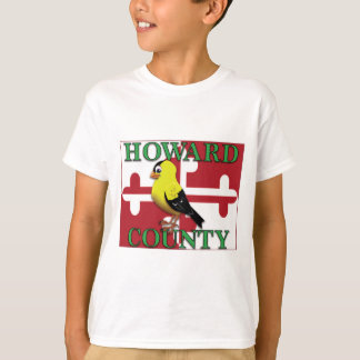Camiseta O CONDADO DE HOWARD com goldfinch