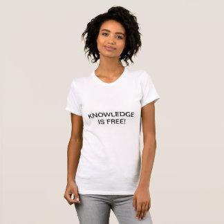 Camiseta O conhecimento é Tshirt livre
