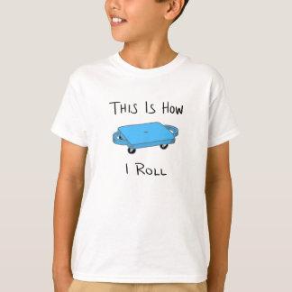 """Camiseta O conselho do patinete """"isto é como eu rolo"""" -"""
