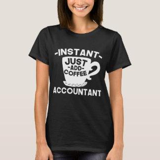Camiseta O contador imediato apenas adiciona o café